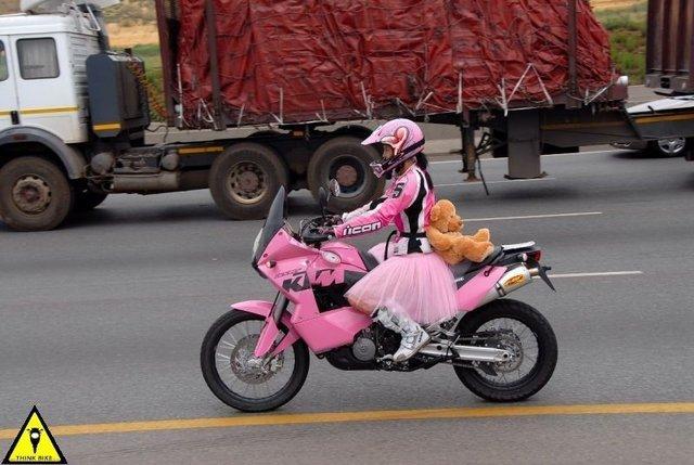 Pink car or pink motorcycle