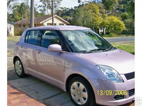 Suzuki Swift Black And Pink. pink car suzuki swift auto