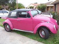 Hot Pink Slug Bugs http://serendipitously.wordpress.com/2007/06/05/hot-pink-convertible-beetle-tourer-d-1964/