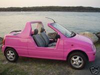 Hot pink convertible Diahatsu Mira 1994 | PinkCarAuction